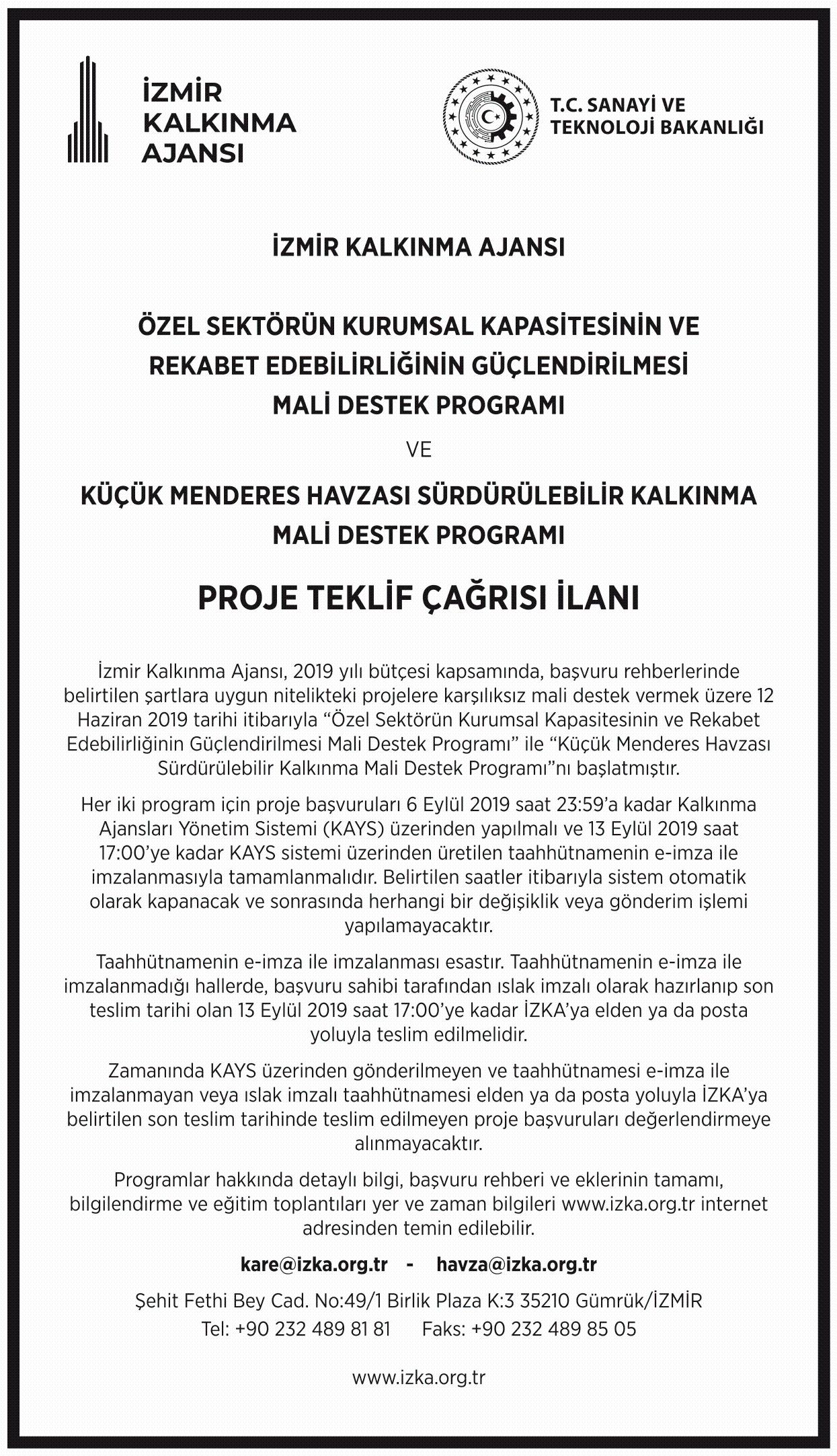 Proje teklif çağrısı ilanı