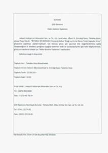 Halkın katılımı (ÇED) toplantı ilanı