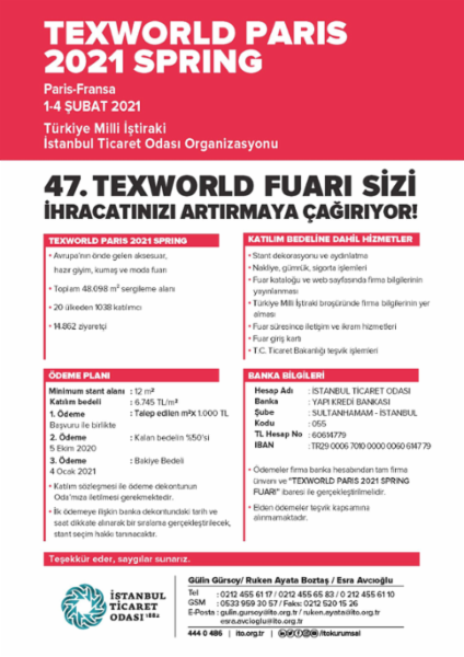 Texworld Paris Fuarı